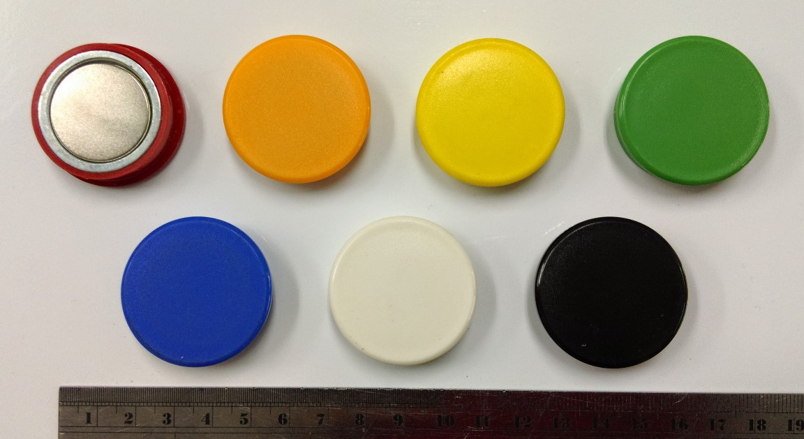 3.8Cm Circular Glass Whiteboard Magnet Can Hold 14 Sheets Of Paper